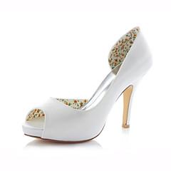 Women's Shoes Stretch Satin Stiletto Heel Heels / Peep Toe Sandals Wedding /  Dress Pink / Ivory / Champagne