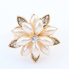 指輪 女性用 人造真珠 人造真珠 / 合金 人造真珠 / 合金 調整可 ゴールド / ホワイト リングサイズは調整可能です
