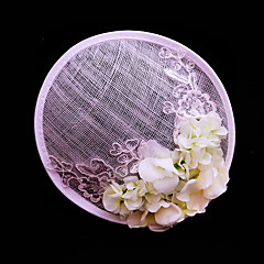 Women's Lace / Flax / Fabric Headpiece-Wedding / Special Occasion / Casual / Outdoor Fascinators 1 Piece