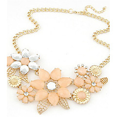 Women's Statement Necklaces Flower Pearl Alloy European Bridal Festival/Holiday Fashion Jewelry ForWedding Party Special Occasion