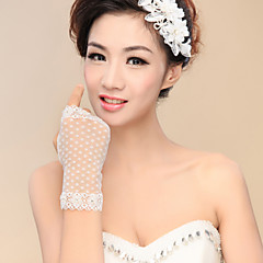 Wrist Length Fingerless Fingertips Glove Nylon Bridal Gloves Party/ Evening Gloves Spring Fall Winter lace
