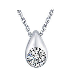 Classic 2016 New Top Natural Rhinestone Stone Drop Water Pendant Necklace With Link Chain For Women Nice Jewelry
