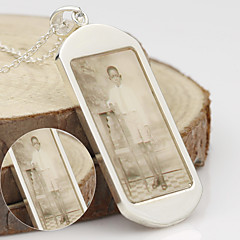 Men's / Unisex / Couples' / Women's Silver Necklace Engagement / Birthday / Gift / Party / Daily / Causal Non Stone