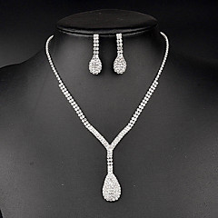 Jewelry Set Women's Anniversary / Wedding / Birthday / Gift / Party / Special Occasion Jewelry Sets Rhinestone Crystal / Rhinestone