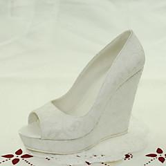 Γάμος Παπούτσια-Γυναικεία-Peep Toe-Πέδιλα-Γάμος / Φόρεμα-Άσπρο