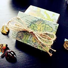 12 Piece/Set Favor Holder - Destination Love World Map Wedding Favor Box , Party Candy Boxes