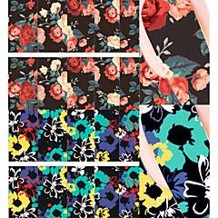 bloem het schilderen nail art water decals overdracht sticker geboren vrij