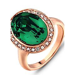 טבעות רצועה אבן יקרה אופנתי ירוק תכשיטים חתונה Party יומי קזו'אל 1pc