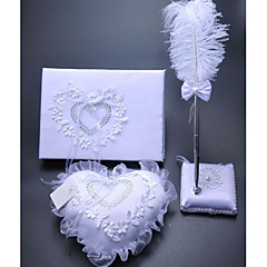 Heart Style Ring Pillow 4 Pcs In One Set