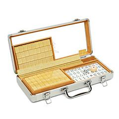 Royal St. mini-viagem mahjong azulejos pequena mahjong 23 milímetros caixa de cristal turismo dourada de alumínio 23 mm caixas de ouro /