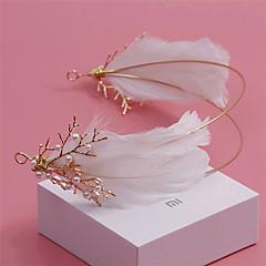 Femme Plume / Strass / Alliage / Imitation de perle Casque-Mariage / Occasion spéciale / Extérieur Serre-tête 1 Pièce