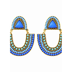 Bohemian Beads U-shaped Beach Holiday Style Earrings