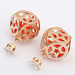 New Fashion Hollow Out Pentagram Geometric Pattern Beads Earrings