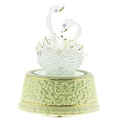 poterie blanche créative boîte de musique romantique pour le cadeau