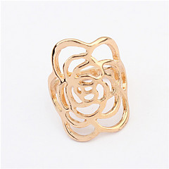 Charming Women's Party Hollow Out Jewelry Crystal 18K Rose Gold Plated Rings