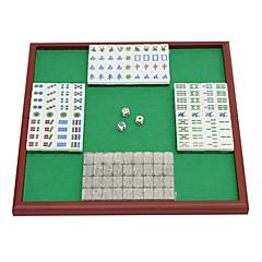 Royal St. miniatura de cristal mahjong mahjong mahjong turismo 20 milímetros de marfim + + pés u mesa dobrável