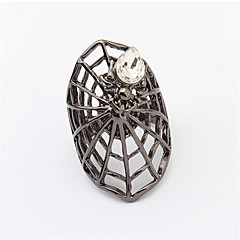 New Arrival Fashion Vintage Punk Rings Retro Simple Hollow Ring Cool Neutral Women Jewelry Black RING