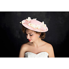 Women's Lace / Pearl / Flax Headpiece-Special Occasion Fascinators 1 Piece