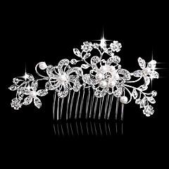 Női Gyöngy Strassz Kristály Ötvözet Sisak-Esküvő Különleges alkalom Hétköznapi Fésűk 1 darab