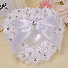 The Rose Heart Style Rhinestone Ring Pillow