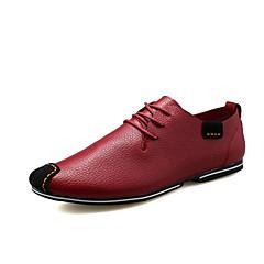 Oxfords-PU-Komfort-Herrer--Fritid-Flad hæl