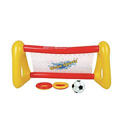 물 놀이기구 야외 장난감 사각형 PVC 실버 / 화이트 아동용 전체