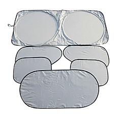 6 pcs pára-brisa dianteiro após o bloco lado protetor solar isolamento anti-uv pára-sol do carro