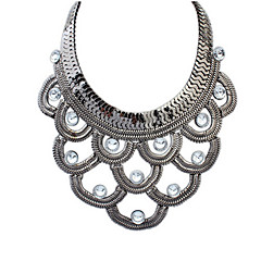 Atmospheric Layers Of Metal Semicircle Wild Necklace