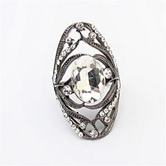 Ringen Dames / Heren / Stelletjes Bergkristal Licht Metaal Licht Metaal 10 Goud / Zwart / Wit