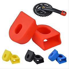 MTB Mountain Bicycle Fixed Gear Carbon Fiber Crankset Crank Rubber Protector Case 1 Pair