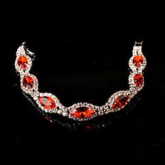 Women's Chain Bracelet Silver Crystal / Rhinestone