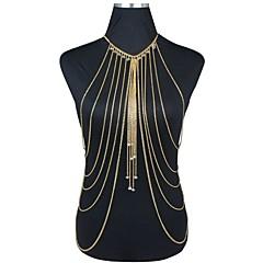 Damen Körperschmuck Bauchkette Körper-Kette / Bauchkette Harness Halskette vergoldet Übergang Quaste Sexy Bikini Modisch Statement Schmuck