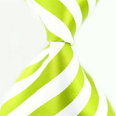 אופנתי לבן / ירוק בד גברים Tie Bar-1pc