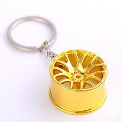 fém autó kerék kulcs medál fém ajándék kulcstartó lánc