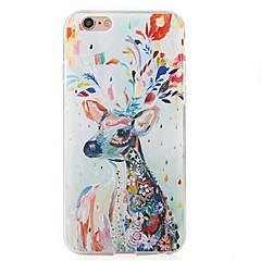 Für iPhone 6 Hülle / iPhone 6 Plus Hülle Stoßresistent Hülle Rückseitenabdeckung Hülle Tier Weich TPU AppleiPhone 6s Plus/6 Plus / iPhone