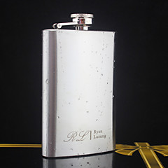 Personalized Stainless Steel Silver Flask 5 oz  Hip Flasks