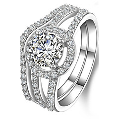 Perfect Match 1CT Round Engagement Ring SONA Diamond Rings Set for Women Sterling Silver Wedding Band Rings