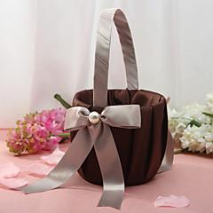 Chocolate Brown Flower Basket
