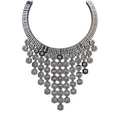 Dot Small Fresh Big Fashion Gem Tassel Necklace