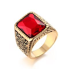 Anéis Fashion / Pedras dos signos Casamento / Pesta / Diário / Casual Jóias Aço Titânio Masculino Anéis Statement 1pç,9 / 10 / 11 / 12