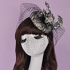 Dam / Blomflicka Bomull Headpiece-Bröllop / Speciellt Tillfälle Fascinators 1 st. 15*15cm