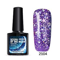 Lak na nehty UV gel 10 1 namočte Off Třpytky UV barevný gel Želé Třpyt Namočte off Dlouhotrvající