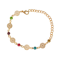 Bracelet Chain Bracelet Alloy Round Fashion Jewelry Gift Gold / Silver,1pc