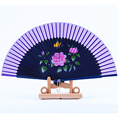 Dark Blue Fan Frame Printing Fan Random Pattern(Set of 1)