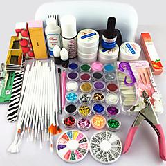 62PCS Gel Nail Practical  NailProducts Uv Gel Lamp Nail Art Tool Kits Manicure Set