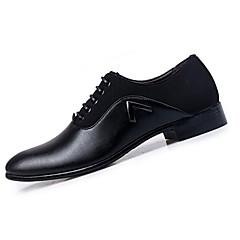 Kényelmes-Lapos-Női cipő-Lapos-Alkalmi-Bőr-Fekete / Sárgásbarna