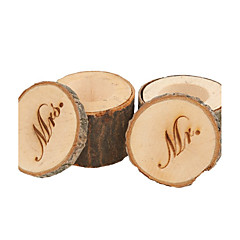 Set of 2pcs Mr & Mrs Shabby Chic Rustic Wedding Ring Pillow Bearer Box Wooden
