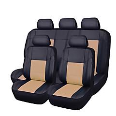 cuir 11pcs pu noir avec auto beige voiture couvre plein set synthétique housses de siège
