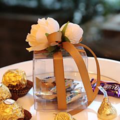 Nepřizpůsobeno-Svatba-Zahradní motiv-Krabice na výslužky(Zlatá / Lila / Růžová / Červená,Umělá hmota)
