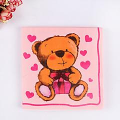 100% virgin pulp 20 pcs Cute Bear Napkins